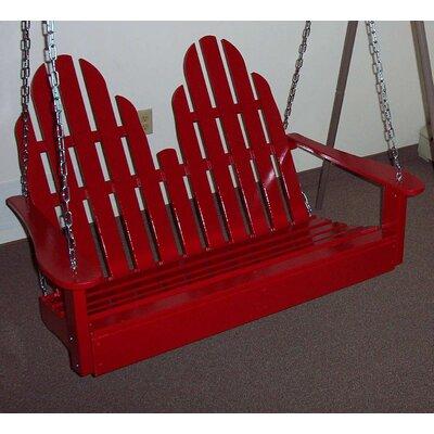 Adirondack Chair Swing Finish: Fire Engine Red