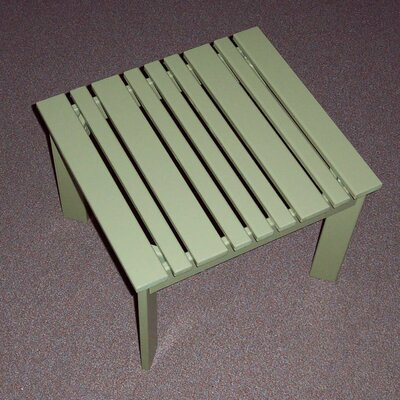 Adirondack Side Table Finish: Sage, Table Size: 20 W x 20 D