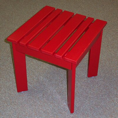 Adirondack Side Table Finish: Fire Engine Red, Table Size: 20 W x 20 D