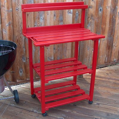 Barbecue Buddy Buffet Table Finish: Fire Engine Red