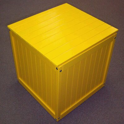 Storage Cube Ottoman Finish: Buttercup Yellow
