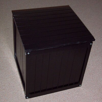 Storage Cube Ottoman Finish: Black