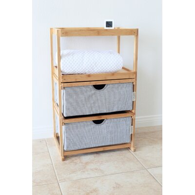 Kasper 2 Drawers Nightstand