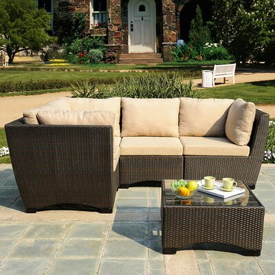 Garden 5 Piece Patio Deep Seating Group with Cushions
