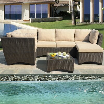 Garden Patio Deep Seating Group with Cushions