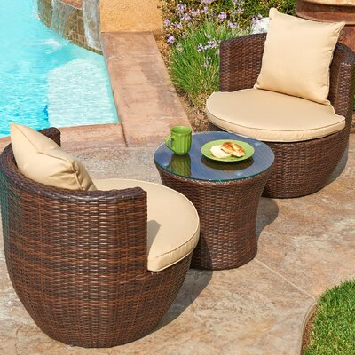 Sayan 3 Piece Seating Group with Cushions