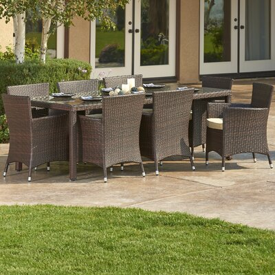 Doha 9 Piece Outdoor Wicker Dining Set