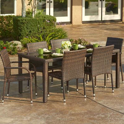 7 Piece Outdoor Wicker Dining Set