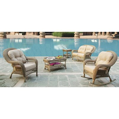 Cappuccino 4 Piece Outdoor Lounge Seating Group with Cushions