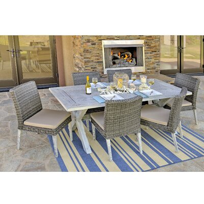 Lindmere Garden 7 Piece Dining Set with Cushions