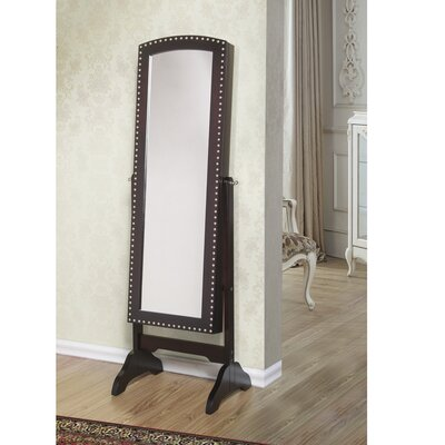 Huggins Free Standing Jewelry Armoire with Mirror