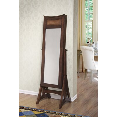 Escoto Free Standing Jewelry Armoire with Mirror