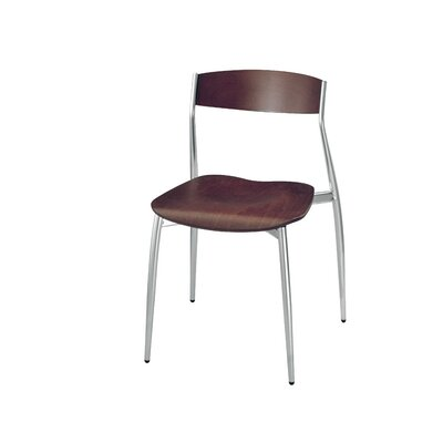 Baba So Side Chair (Set of 4) Finish: Matt Chrome