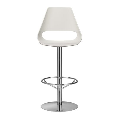Echo 29.1 Swivel Bar Stool Upholstery: Ivory