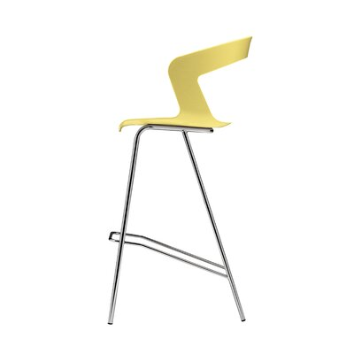Ibis 29.5 Bar Stool Upholstery: White