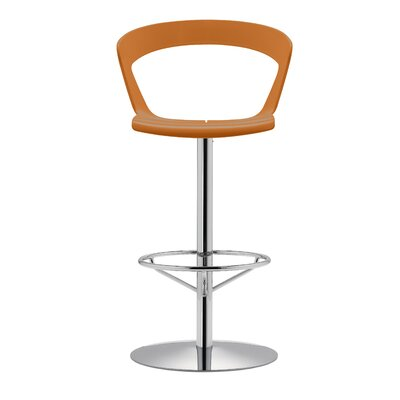 Ibis 29.1 Swivel Bar Stool Upholstery: Orange