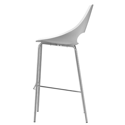Echo 29.9 Bar Stool Upholstery: White