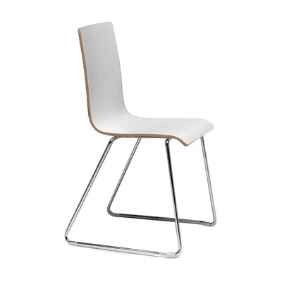 Luna Side Chair (Set of 4) Finish: Natural Beech/Chrome