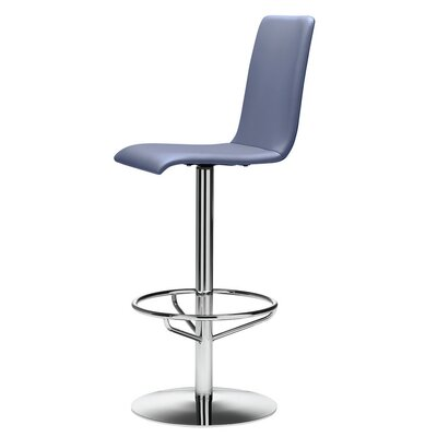 Luna 29.9 Swivel Bar Stool Base Finish: Chrome, Upholstery: Natural Beech
