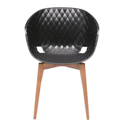 Uni-Ka Side Chair Finish: Beech Wenge/Black