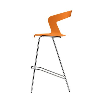 Ibis 29.5 Bar Stool Upholstery: Orange