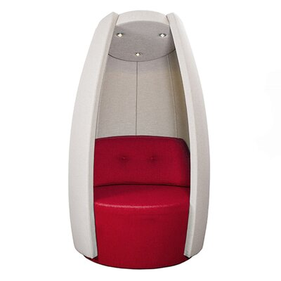 Cocoon Balloon Chair Upholstery: Red