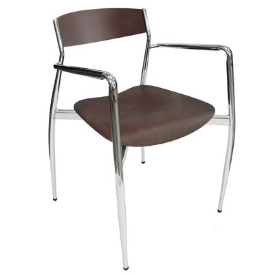 Baba So Arm Chair (Set of 4) Finish: Matt Chrome