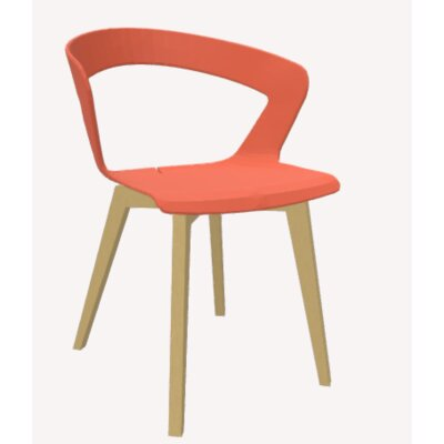 Ibis Side Chair Upholstery: Orange, Base Finish: Natural Beech