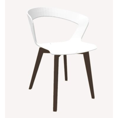 Ibis Side Chair Upholstery: White, Base Finish: Beech Wenge
