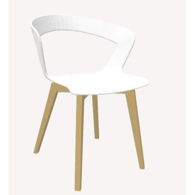 Ibis Side Chair Upholstery: White, Base Finish: Natural Beech
