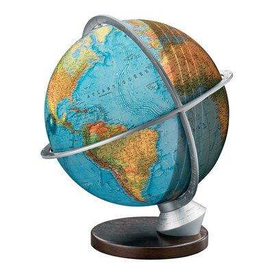 Marco Polo Illuminated Desktop Globe With Wood Base