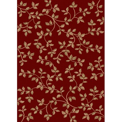 Coggeshall Red/Brown Area Rug Rug Size: 55 x 77