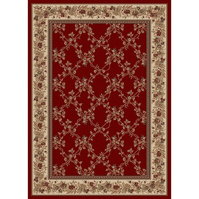 Vesuvio Red Rug Rug Size: 55 x 77 Rectangle