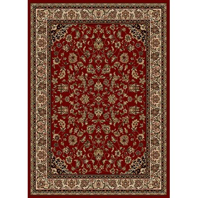 Loida Red Area Rug Rug size: 55 X 77