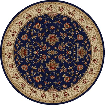 Colebrook Navy Area Rug Rug Size: Round 53