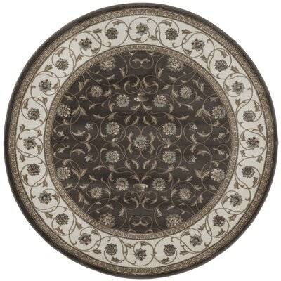 Brown Area Rug Rug Size: Round 710