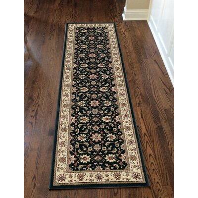 Northgate Black Area Rug Rug Size: Runner 22 x 77