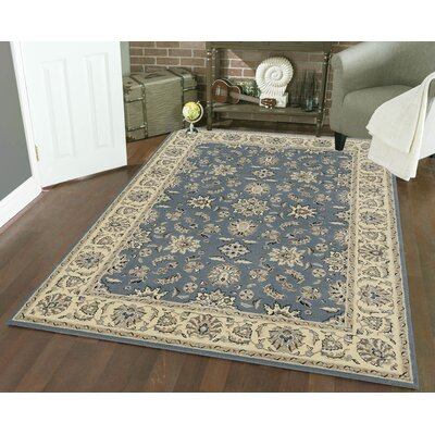 Northgate Greyblue Area Rug Rug Size: 55 x 77