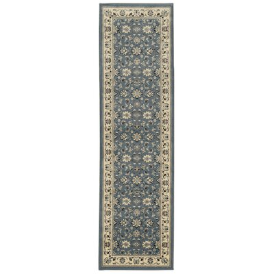 Northgate Greyblue Area Rug Rug Size: Runner 22 x 77