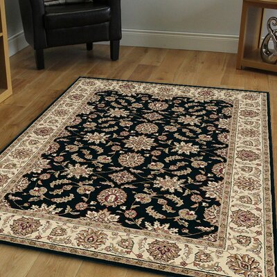 Northgate Black Area Rug Rug Size: 910 x 1210