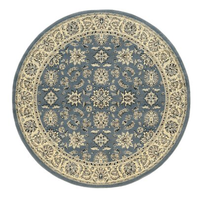 Northgate Greyblue Area Rug Rug Size: Round 53
