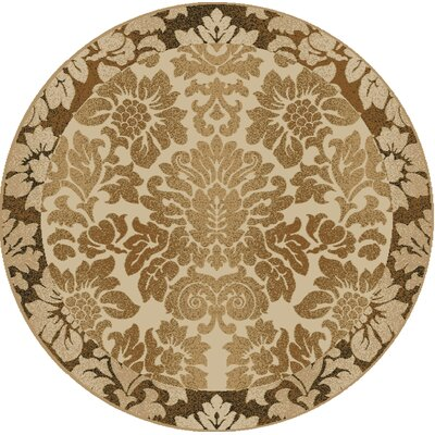 Gabrielson Ivory Area Rug Rug Size: Round 8