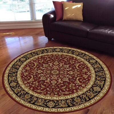Jewell Burgundy Area Rug Rug Size: Round 710