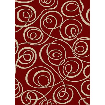 Nakedra Red Area Rug Rug Size: 55 x 77