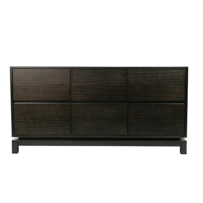 Nusa 6 Drawer Dresser Color: Espresso