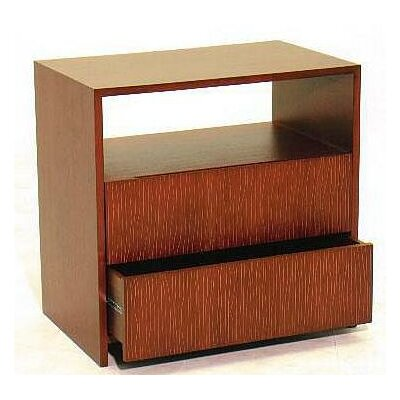 Garis 2 Drawer Nightstand Finish: Brown