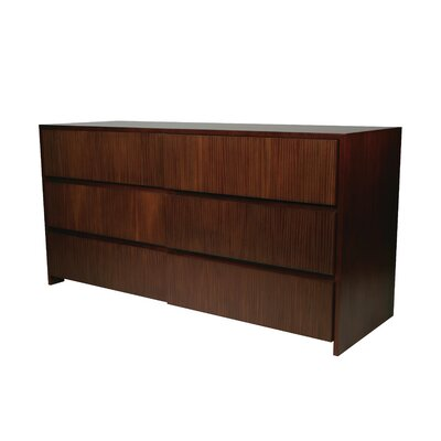 Garis 6 Drawer Dresser Color: Brown
