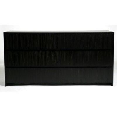 Garis 6 Drawer Dresser Color: Espresso