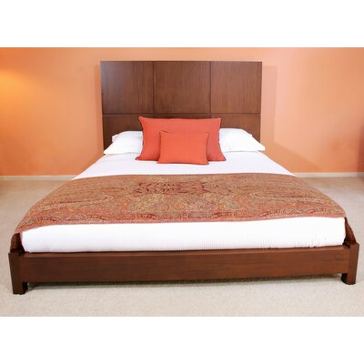 Garis Platform Bed Size: King, Color: Brown