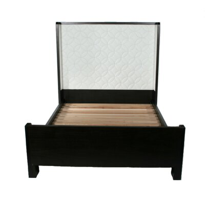 Sleigh Upholstered Platform Bed Size: Full, Finish: Espresso